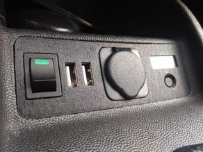 Corsa C cigarette lighter mod w/ 2xUSB & voltmeter
