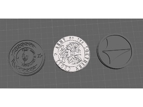 ROBOTECH Reconstruction Blues Armies of the Southern Cross Token