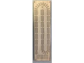 Rectangular Laser Cut Cribbage Board