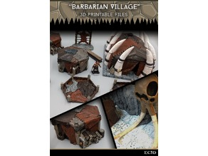 Barbarian Village - 28mm Gaming - Sample Items