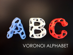 Voronoi Alphabet (Complete from A to Z!!)