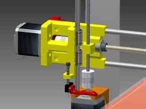 Prusa i3 X-axis lead screw upgrade