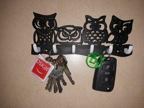 Wall Key Holder - Owls