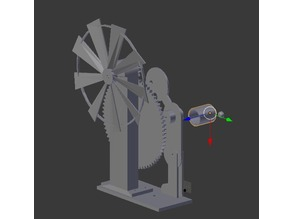 Wind Mill Man Animation