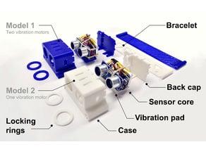 Ultrasound-sensing based navigational support for visually impaired