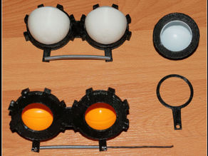 Movable eyes for the ping pong ball with eyelid