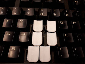 Steno Key Tops for staggered keyboards (Cherry MX style stems)