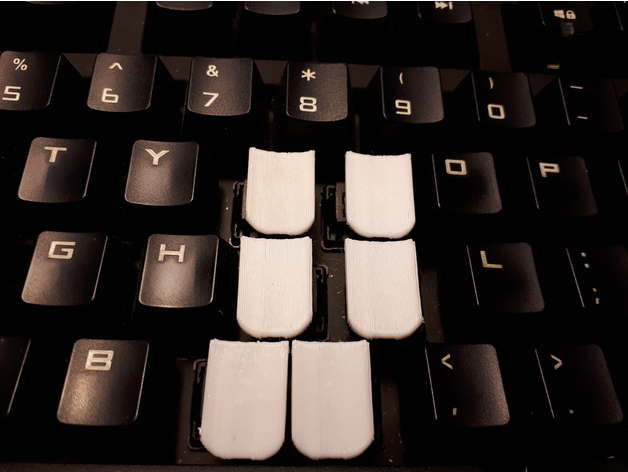 Steno Key Tops for staggered keyboards (Cherry MX style