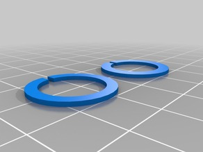 Fixing and spacing rings for Wanhao i3 X-axis LM8LUU mod.