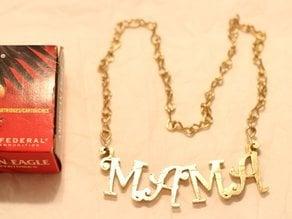Gaudy Golden Mama Necklace
