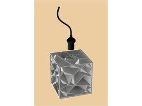 Crinkle hang lamp
