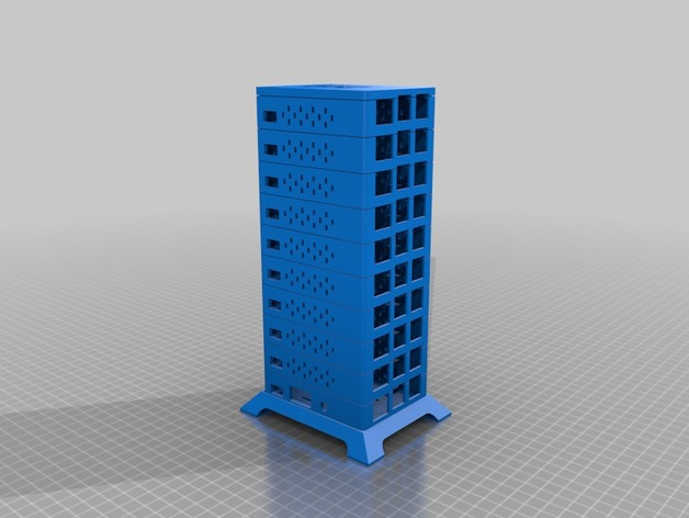 MultiPi -- Raspberry Pi Cluster Case! by jesse76 - Thingiverse