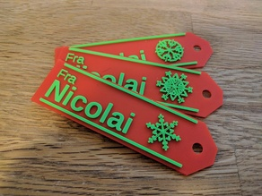 Gift tag with snowflake