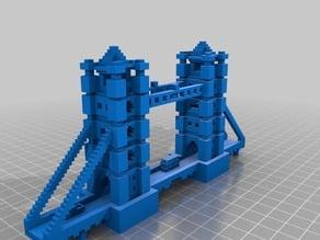Minecraft Tower Bridge with Vehicles
