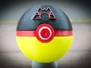 Team Magma Pokeball, with magnetic clasp
