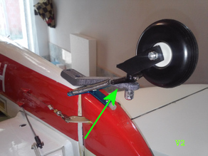 RC large tail wheel bracket V2