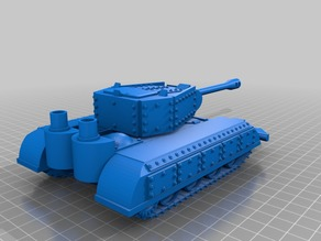 Orc / Ork Armoured Tank with long barrel Cannon