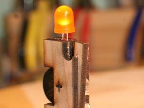 Lasercut LED candle