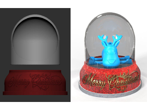 Christmas Snow Globe DIY Light Up Base