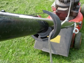 Lawnmover starter rope mount