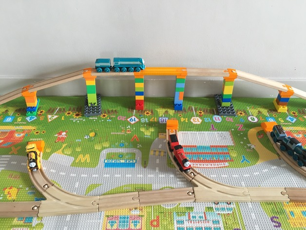 Customizable bridges for wooden train track incl duplo by for 15 metrotech center 7th floor brooklyn ny 11201