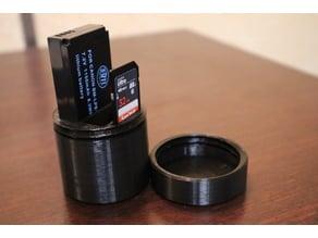 Canon camera battery box and sd card holder