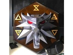 Witcher III Wolf Head Plaque