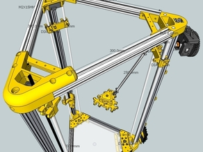 Kossel Alt - 20mm extrusion - 8mm smooth rods