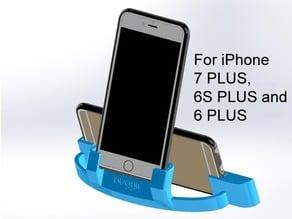 Auggie's iPhone XS Max, 8 PLUS, 7 PLUS, 6 PLUS or 6S PLUS cradle with sound redirector amplifier Landscape and Portrait Modes