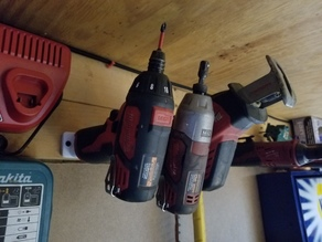 Milwaukee 12v tool and battery holders (wall mount)