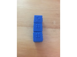 Braille 1x1x3 Rubik's Cube