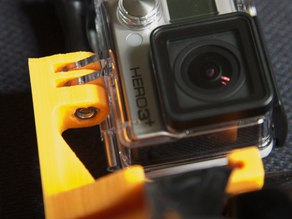 Easy-Install Gopro Scuba Mask Mount with recessed nut and support