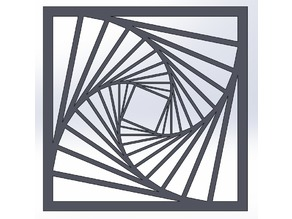 Tilted square pattern illusion