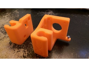 Evolution Z-axis carriages for FLSun i3 (fixed x-rod end spacing, adjustable Z-stop)
