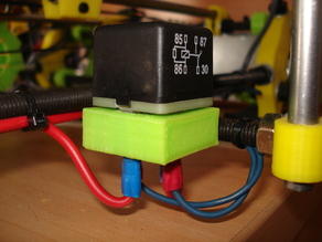 Base for automotive relay (heatbed)