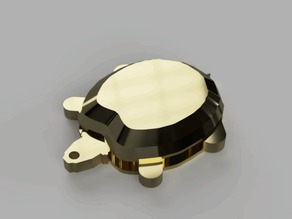 Funky turtle keychain