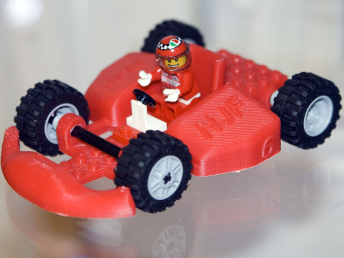 Race Car Body To Be Completed W Lego Parts By Ivymike Thingiverse