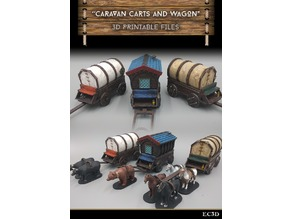 Caravan Wagons - Modular - 28mm gaming - Sample items