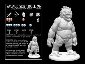 Sea Troll (18mm scale)