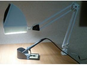 Soldering fan from old desk lamp