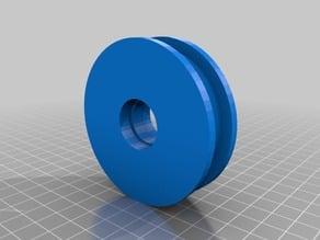 Dry machine tensor pulley ready to 7 mm tread / Polea tensora de secadora preparada para rodamientos de 7 mm