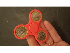 Fidget Spinner Argentino DeLuxe con Monedas de $2 Pesos