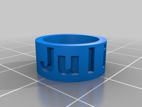 Ring with name (EU, US, JP, CH, DE ring size system)