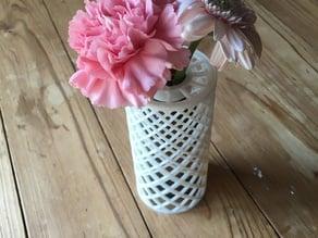 Recycled bottle flower vase