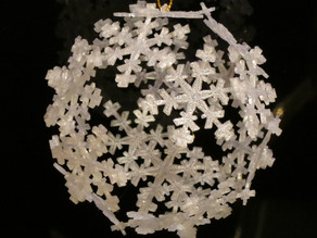 Snowflake Icosahedron Ornament