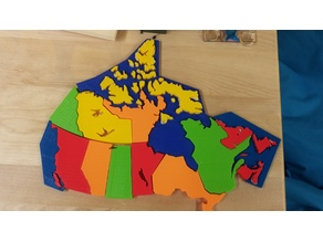 Canada Map 3d Puzzle