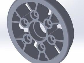 "8"" pneumatic wheel hub for FRC"