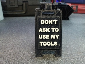 tool box floor sign