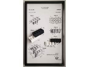 Lego Patent 3D Art