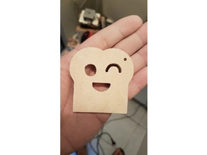 Happy Bread keyring - Cnc router / laser